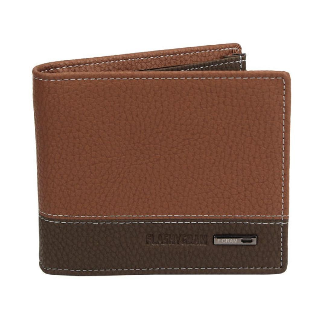 FEITONG Casual Mens Leather Bifold Money Cards Holder Wallet