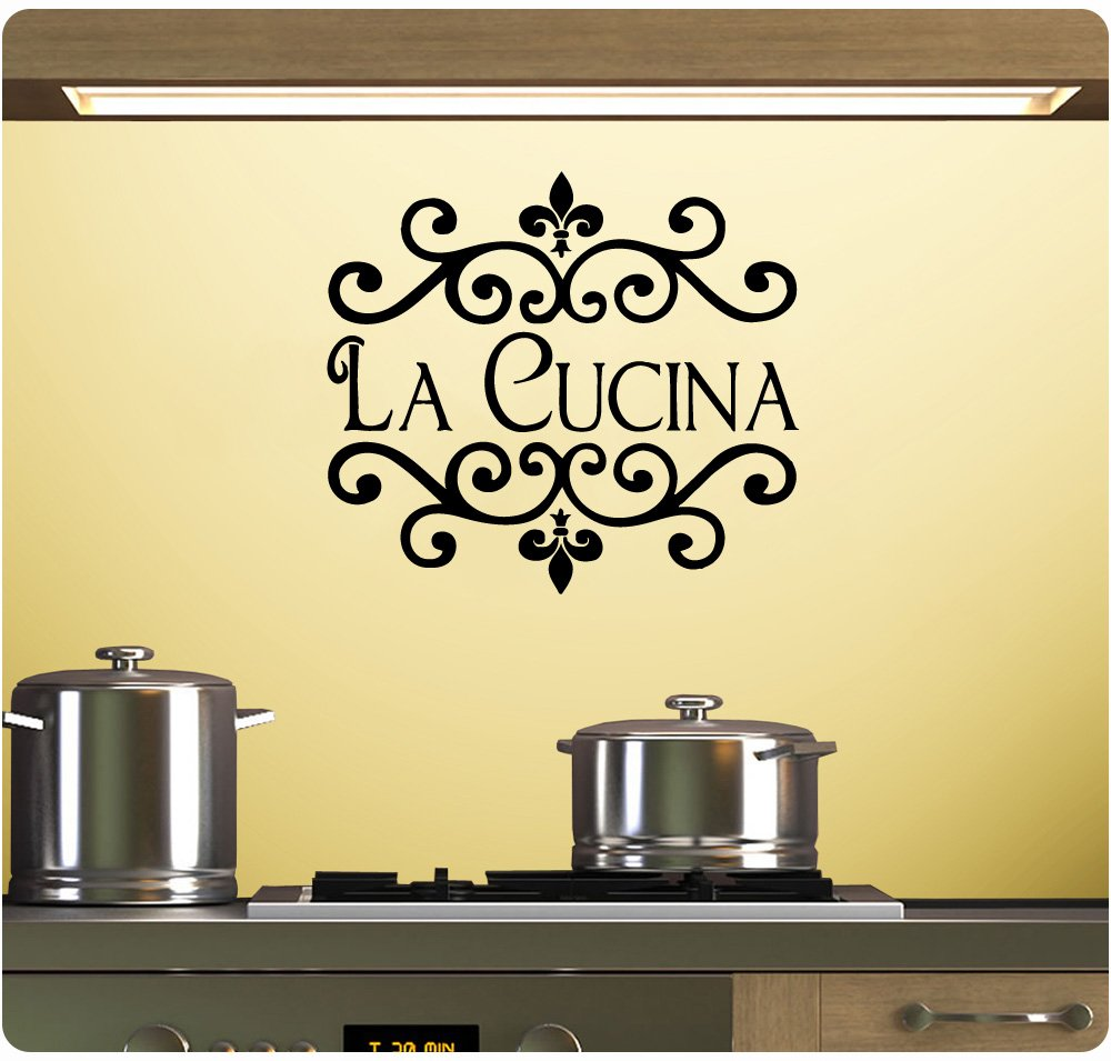 Amazon.com: La Cucina Wall Decal Sticker Art Mural Home Décor Quote ...