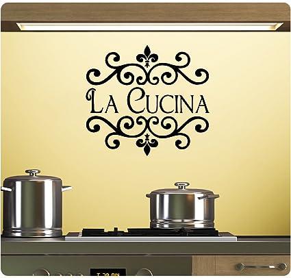 Amazon.com: La Cucina Wall Decal Sticker Art Mural Home Décor Quote ...