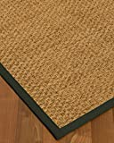 NaturalAreaRugs Miami Custom Seagrass Rug ,Non-Slip Rug Pad Included 5' x 7' Metal Border