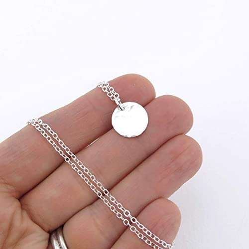 Silvery Rings Necklace Shiny 16 Inch Chain Unisex Jewelry Accessory ~45n