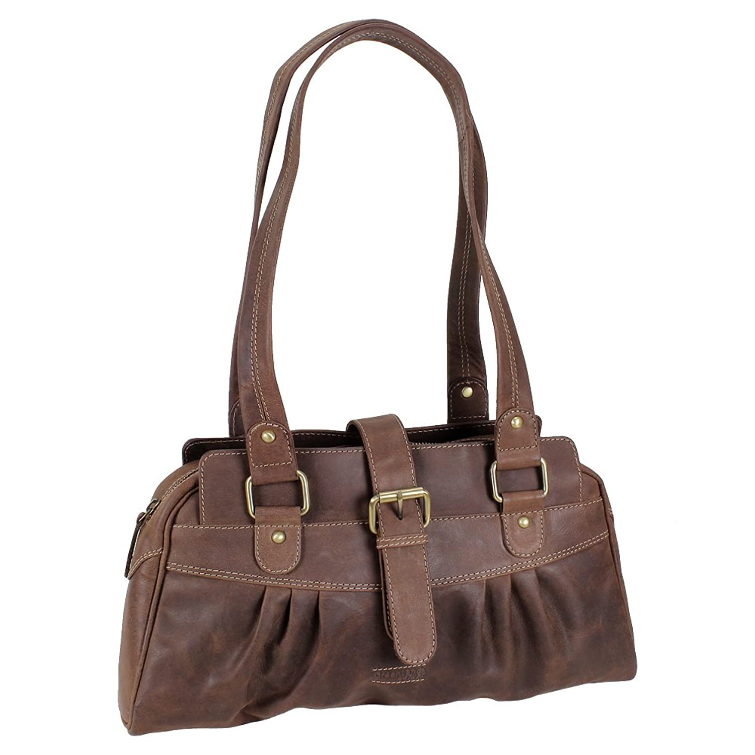 Greenland nature shoulder bag casual bag Brown