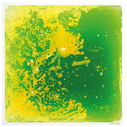 Surfloor New, Bright & Cosmic Colored Liquid Tile, Green/Yellow, 19.5 X 19.5