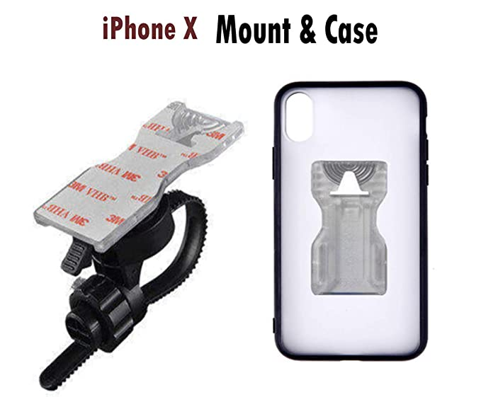 official photos b88fe 8350a iPhone X & iPhone Xs Bike Phone Mount with Riding Case.Calmpal Bike  Handlebar Mount Cell Phone Holder with Riding Cycling Case for iPhone  X(2017 ...