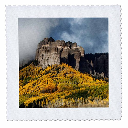 - 3dRose Danita Delimont - Forests - Autumn in the Cimarron range, San Juan Mountains, Colorado - 14x14 inch quilt square (qs_278716_5)