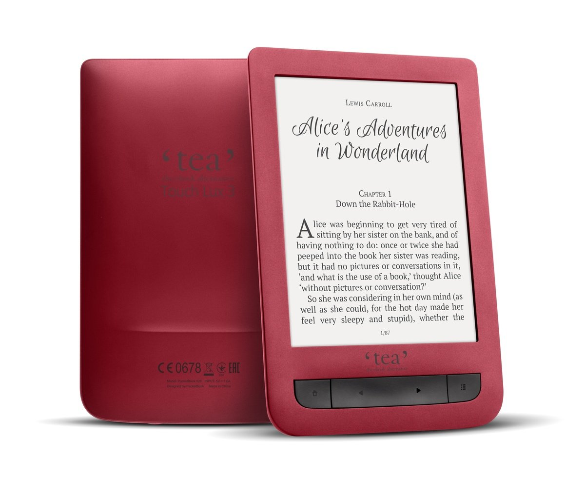 Tea Lux 3 - Lector de libros electrónicos táctil: Amazon.es ...