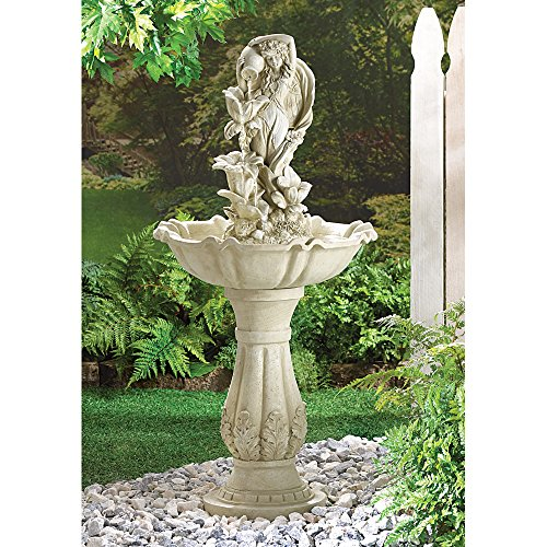 Fairy Maiden Water Fountain By Little Red Crane For Sale