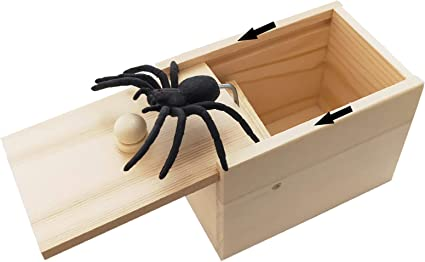 Trick Scary Party Halloween Props H Scare Box Toys Spider in a Box Prank