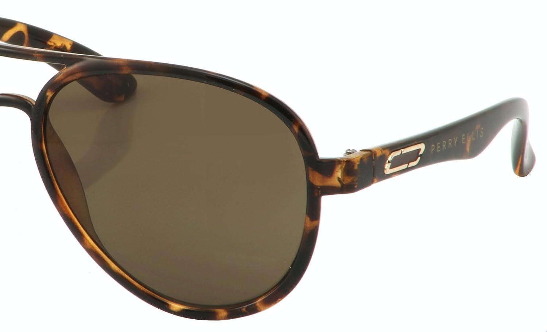 3d4de2779f Amazon.com  Perry Ellis Mens Plastic Sunglasses Demi Aviator PE59-1 ...
