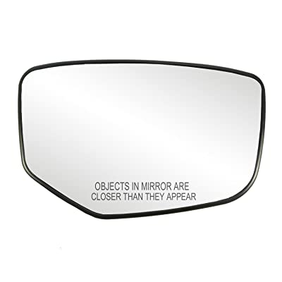 Fit System 30215 Honda Accord Right Side Heated Power Replacement Mirror Glass with Backing Plate: Automotive