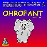 OHROFANT - ein sprachtherapeutisches Programm zur Verbesserung der Hoer-Wahrnehmung (Windows XP, Vista, 7, 8 10)
