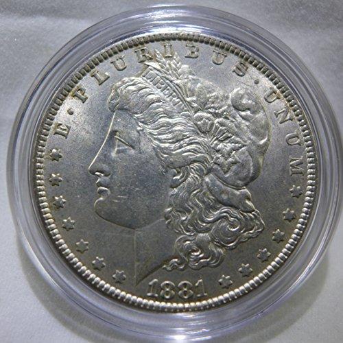 1881 Morgan Silver Dollar Almost Uncirculated