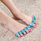 Happy Hours - 1 Pair Blue Toe Bunion Splints Separator Fits Adult Kid Baby / Silicone Pain Ease Correction Stretcher for Hammer Toes, Plantar Fasciitis and Hallux Valgus(Size: S)