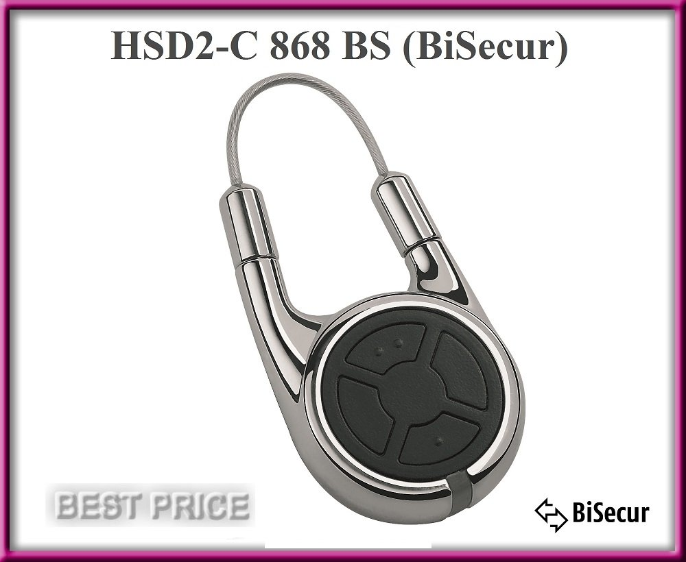 H/örmann 436775 Handsender HSD2 868-BS chrom SW-Europa