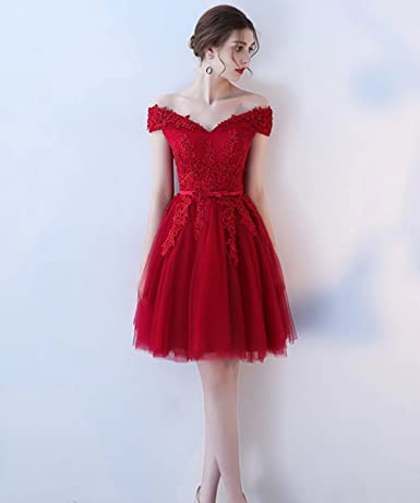 b5190f556 Women's Tulle Sequin Short Homecoming Dresses Prom Gown Party Evening  Dresses at Amazon Women's Clothing store: