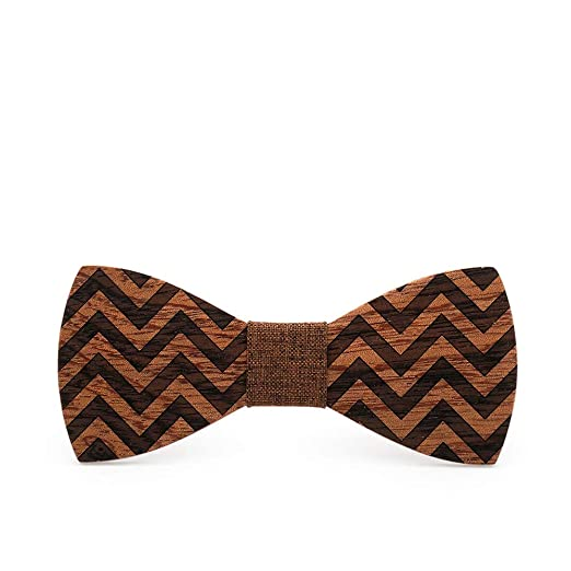 La corbata de madera de la boda se puede ajustar Corbata de lazo ...