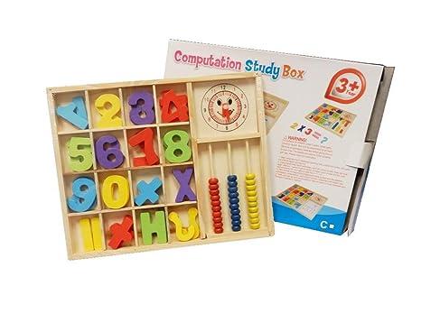 Números de madera para niños Aprendizaje Matemáticas Símbolo ...