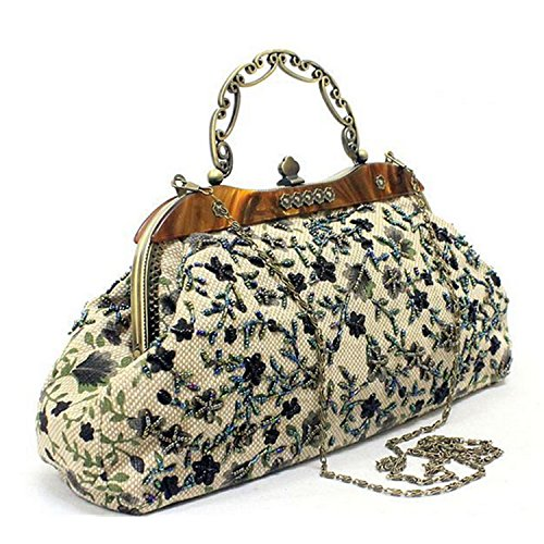 Hers Baby Vintage Style Hand Embroidery Chain Lady Handbag,a