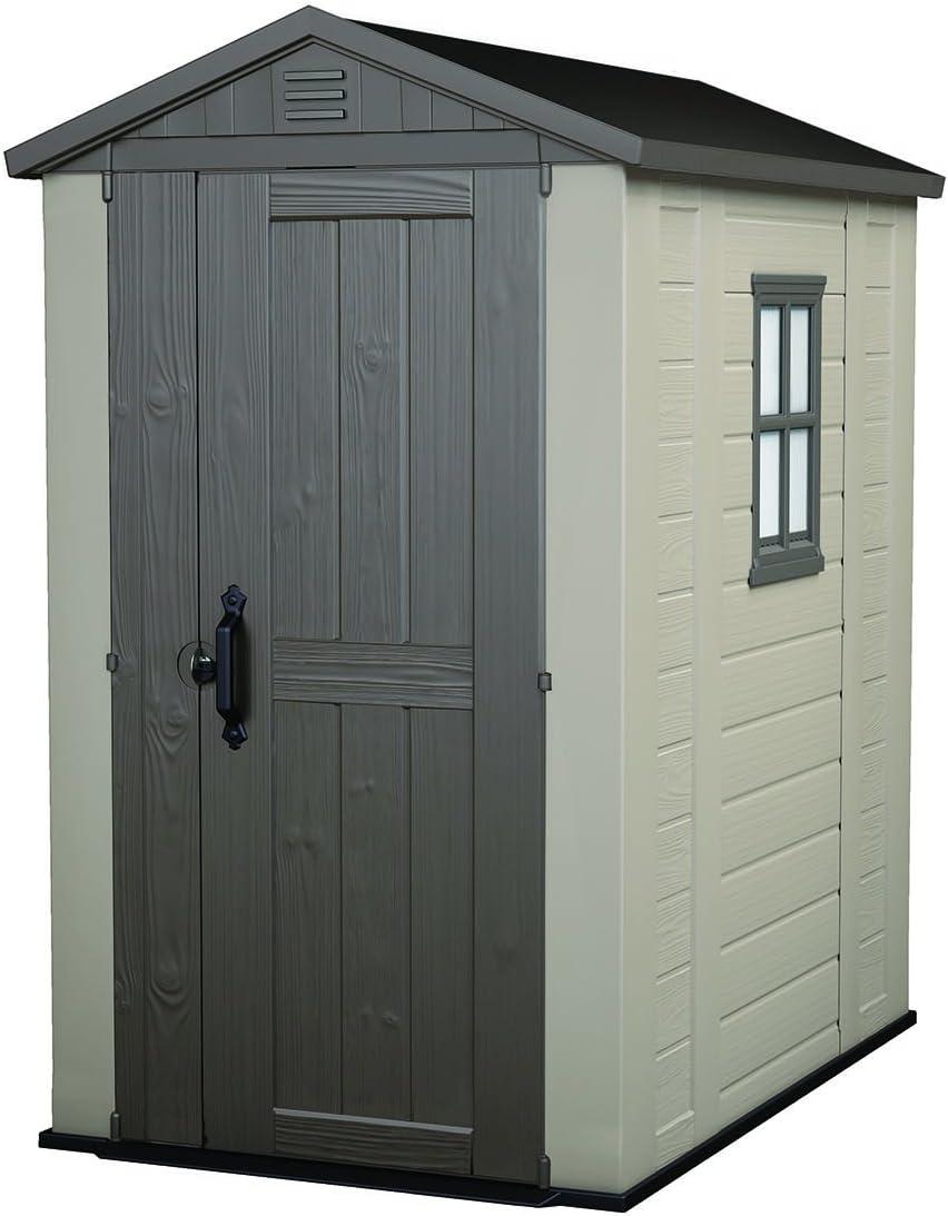 Keter Factor Large 4 x 6 ft. Resin Outdoor Backyard Garden Storage Shed