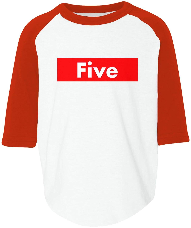 Amdesco Five 5th Fifth Birthday Toddler Raglan Shirt