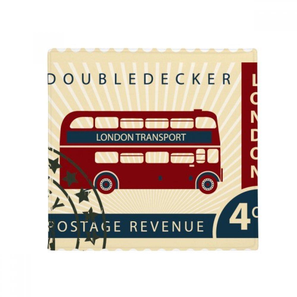 DIYthinker London Doubledecker Stamp England Britain UK Anti-Slip Floor Pet Mat Square Home Kitchen Door 80Cm Gift
