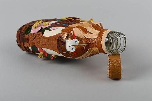 Botella de vidrio decorada hecha a mano objeto de decoracion adorno para casa: Amazon.es: Hogar