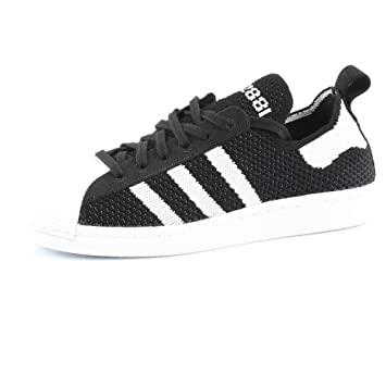 get cheap 88cf4 3d926 Adidas Originals SUPERSTAR 80S PRIMEKNIT W Chaussures Mode Sneakers Femme  Noir Blanc