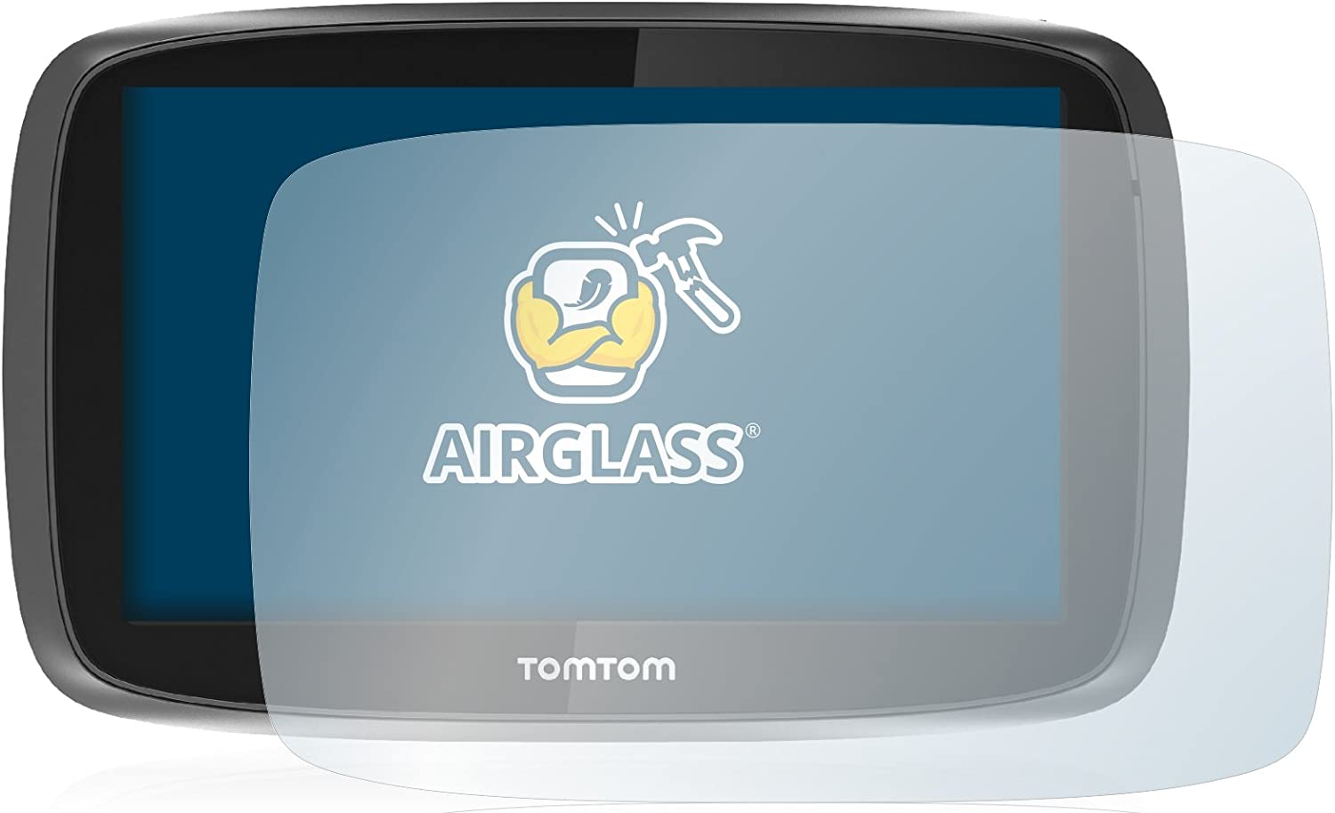 Extreme Scratch Resistant AirGlass brotect Glass Screen Protector compatible with TomTom GO 510 2015 Glass Protector