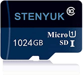 Micro SD SDXC Card 1TB Memory Card High Speed Class 10 with SD Adapter, Designed for Android Smartphones (1TB-A)