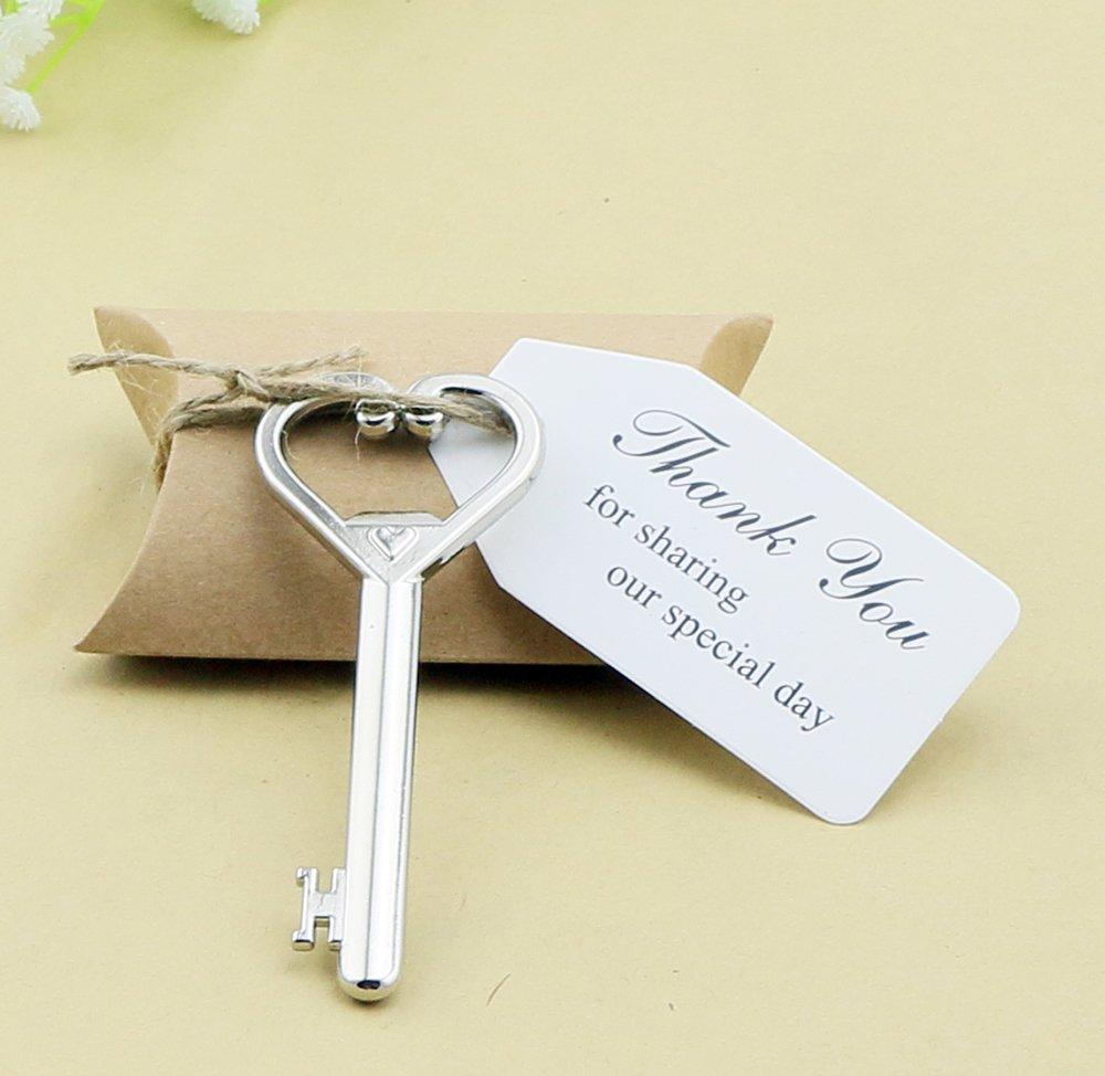 Amazon.com: 50pcs Wedding Favors Candy Box w/ Antique Skeleton Key ...