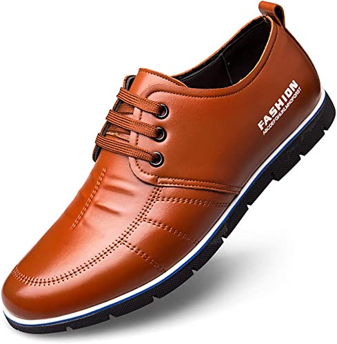Mens Dress Shoes Business Shoes Outdoor Breathable Casual Leather Walking Shoes