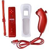 CaaWoo Telecomando con Motion Plus Sensor e Nunchuck Controller Kit per Wii U e Wii.