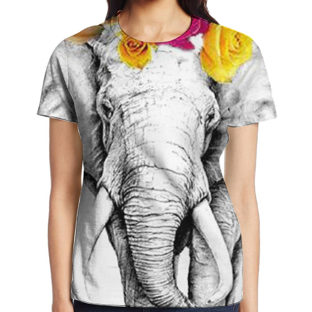 a2f040a6d May Bohemian Elephant Boho Tanks Short Sleeve T-Shirt Graphic High  Water-Absorbing For Adult Women Sleep at Amazon Women s Clothing store