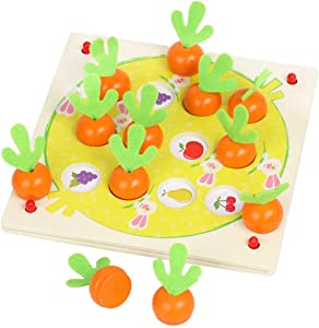 YOKOSO Radish Memory Game Wooden Pretend Play Food Vegetables Fruits Color Sorting Learning Education Toys
