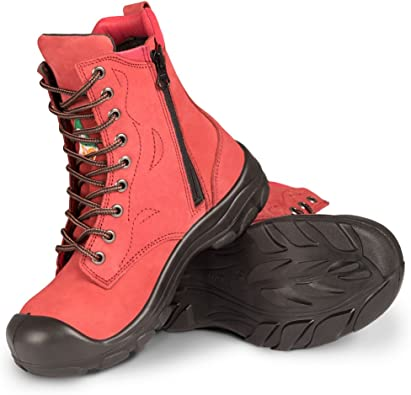 Steel Toe Work Boots   Red