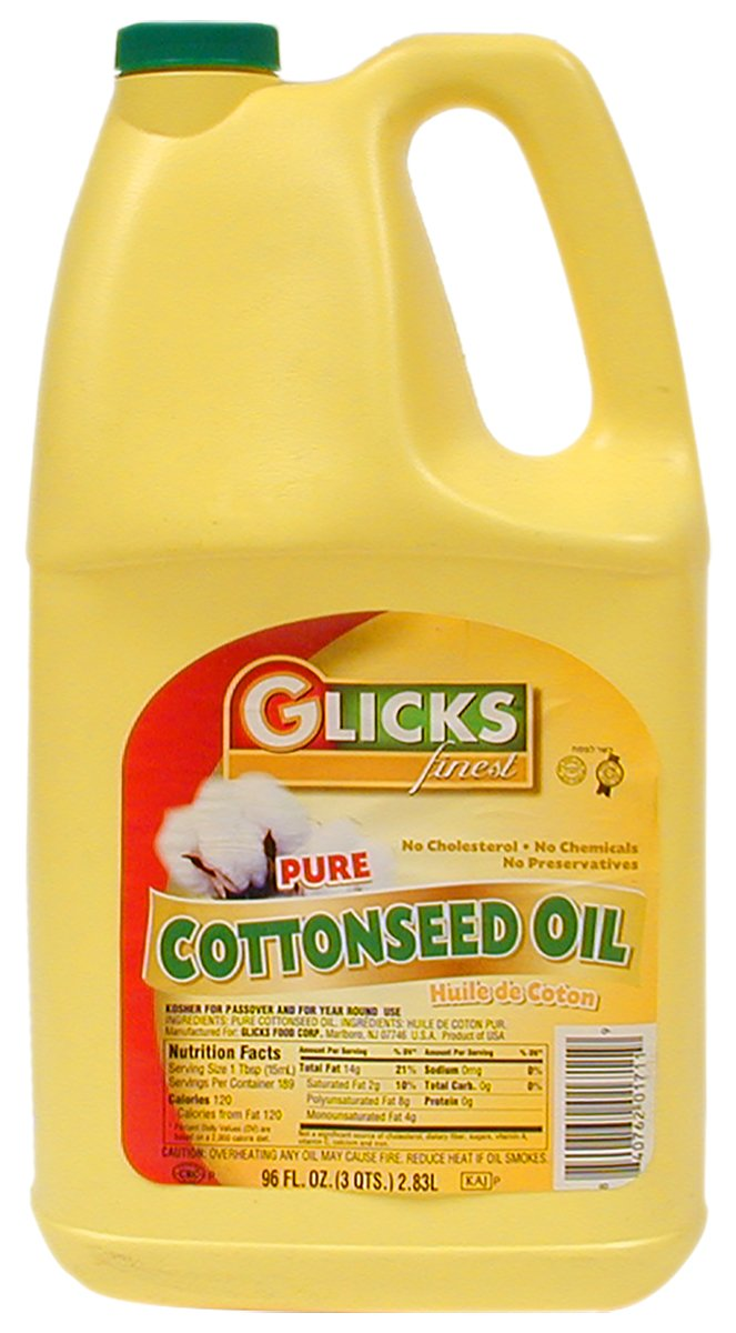 Glicks Finest, Pure Cottonseed Oil, 96oz Bottle