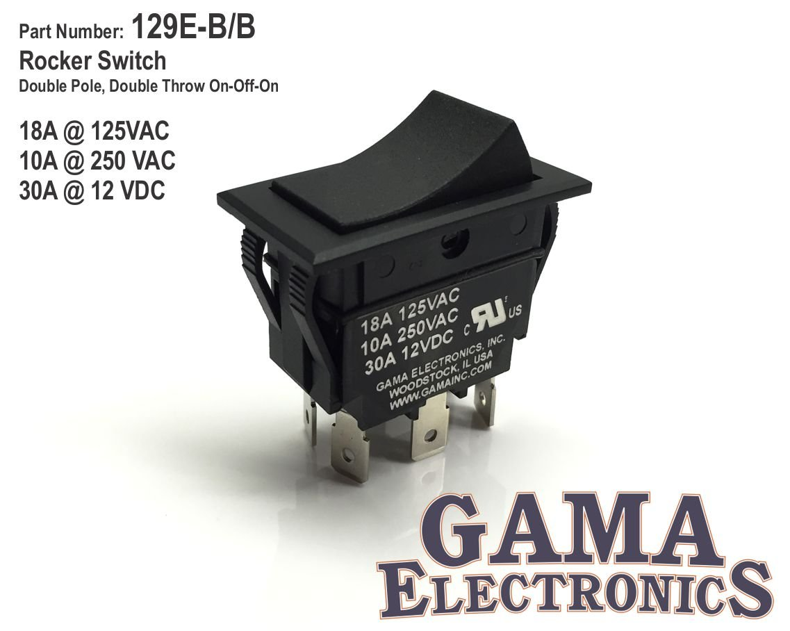 Gama Electronics 30 Amp Dpdt On Off Rocker Switch House Fan Wiring Diagram Automotive
