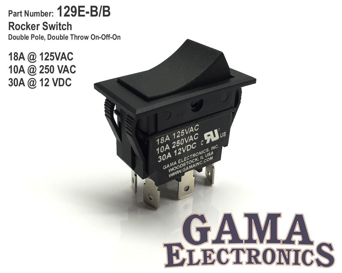 Amazon.com: GAMA Electronics 30 Amp DPDT On-Off-On Rocker Switch ...