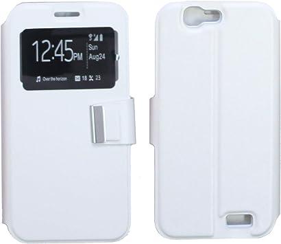 TBOC Funda [Blanca] con Ventana para Huawei Ascend G7 [5.5 ...