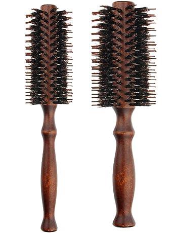 Lurrose 2pcs Peines de madera naturales del cepillo del pelo de la cerda del peine de