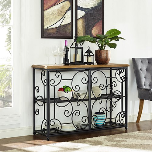 Crosley Furniture Roots Accent Cabinet In Black