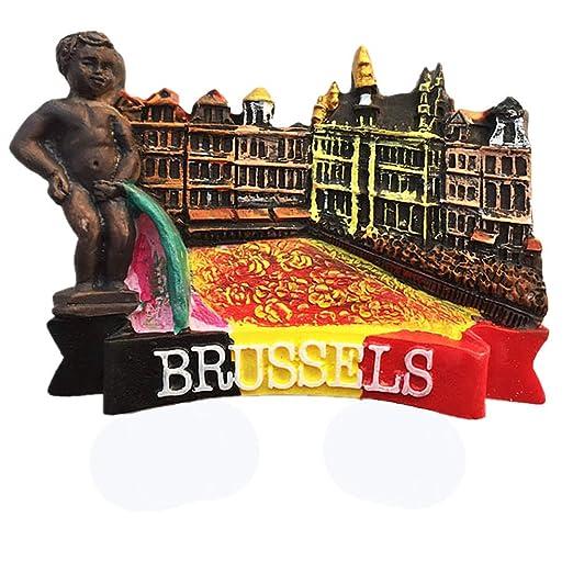 MUYU Magnet Imán para Nevera, diseño de Bruselas en 3D: Amazon.es ...