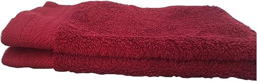 AJUAR RIZO - Toalla de Tocador 600 gr. 100% algodón Peinado Color Granate 30x50 cm: Amazon.es: Hogar