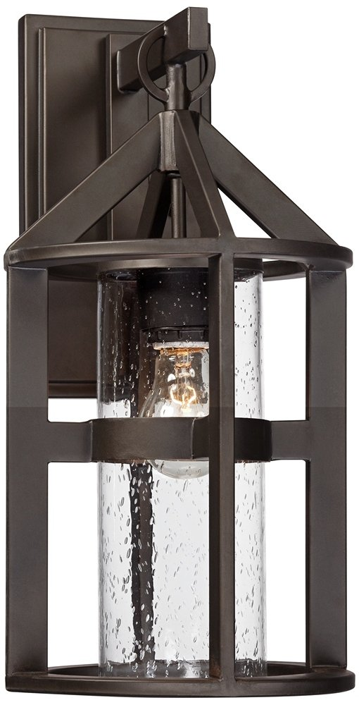 Argentine 17'' High Clear Seedy Glass Outdoor Wall Light