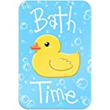 """Bath Time Rubber Duck Novelty Metal Sign 6"""" x 9"""""""