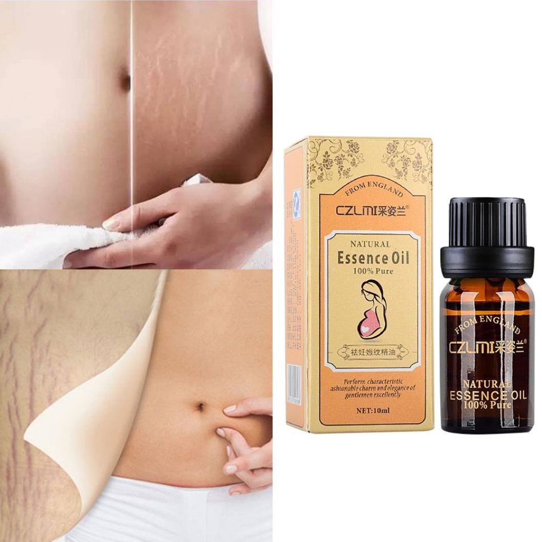 Hunputa 10ml Stretch Marks & Scar Removal Essential Oil for Pregnancy, Remove Wrinkles, Repair Scar Slack Line Abdomen by Hunputa (Image #1)