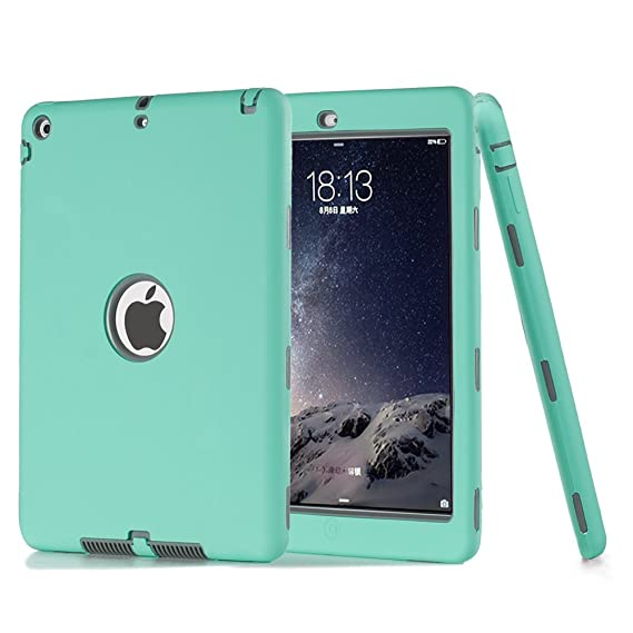 pretty nice 0e27d 2a7d2 Amazon.com: iPad Air Case,iPad 5 Case, ZERMU 3in1 Heavy Duty ...