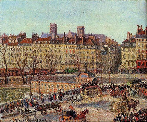 pissarro-camille-the-baths-of-samaritaine-afternoon-100-hand-painted-oil-paintings-reproductions-48x