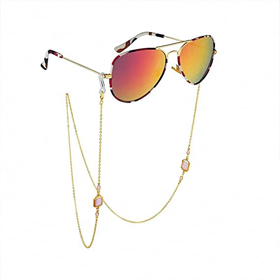 ULTECHNOVO 2Pcs Cadenas de Soporte de Anteojos Ajustables Retenedor de Correa de Gafas para Mujeres Hombres Ni/ños para Gafas de Sol Gafas de Lectura Cubierta de La Cara Estilo de Gancho para