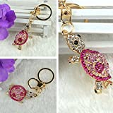 1-Pc Lordly Popular Tortoise Keychain Keyring Rhinestone Charm Pendant Colorful Gift